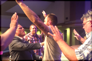 One of many receiving instantaneous healing in one of our Holy Ghost Revivals!