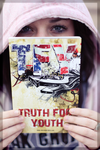 Order the TRUTH FOR YOUTH New Testament and help us reach a generation of America's teenagers with the Gospel of Jesus Christ! Only $3 each or at OUR COST for only $2 each when you order a case or more. To place an order click here.